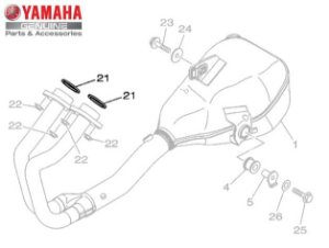 GAXETA DO TUBO DE ESCAPE PARA MT-03 E YZF-R3 ORIGINAL YAMAHA