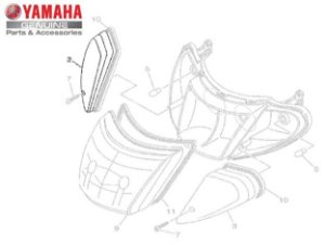 LENTE DO PISCA PARA AT115 NEO DE 2005 A 2007 ORIGINAL YAMAHA