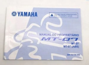 MANUAL DO PROPRIETARIO PARA MT-07 ORIGINAL YAMAHA