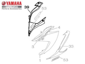 CARENAGEM DIREITA INFERIOR PARA YZF-R3 ATE 2019 ORIGINAL YAMAHA