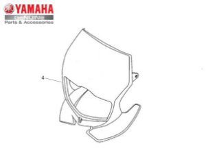CARENAGEM DO FAROL PARA TTR-230 ORIGINAL YAMAHA