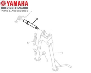 EIXO DO CAVALETE CENTRAL PARA YBR125 2002 A 2008 ORIGINAL YAMAHA
