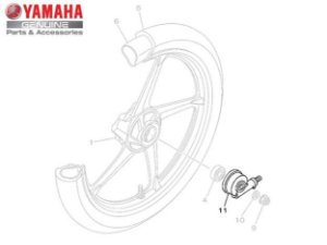 ENGRENAGEM DO VELOCIMETRO CONJUNTO PARA AT115 NEO ORIGINAL YAMAHA