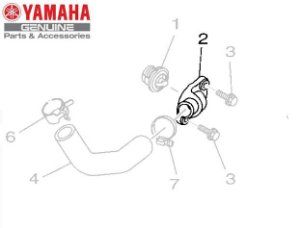 TAMPA DO TERMOSTATO PARA MT-03 E YZF-R3 ORIGINAL YAMAHA