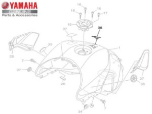 EMBLEMA DO TANQUE PARA MT-09 2017 A 2020 ORIGINAL YAMAHA