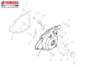 TAMPA ESQUERDA DO MOTOR PARA TTR-230 ORIGINAL YAMAHA