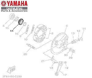 ENGRENAGEM MOTORA DO VELOCIMETRO PARA CRYPTON 105 E CRYPTON 115 FREIO TAMBOR ORIGINAL YAMAHA