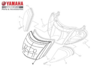 LENTE DO FAROL PARA AT115 NEO ORIGINAL YAMAHA