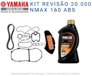 KIT REVISAO 20.000KM PARA NMAX 160 ORIGINAL YAMAHA