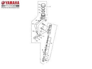 CILINDRO MESTRE TRASEIRO COMPLETO PARA YZF-R3 E MT-03 ORIGINAL YAMAHA