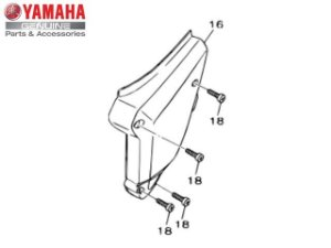 4 Parafusos da Tampa do Filtro de Ar para TTR-230 Original