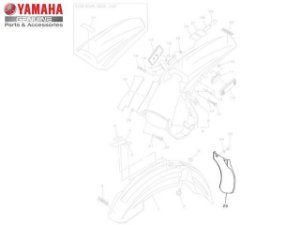 Aba do Protetor Yamaha WR 250 F 2008/10 Original
