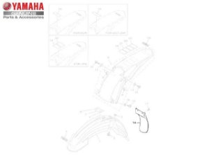 Aba do Protetor Yamaha YZ 250 2008/10 Original