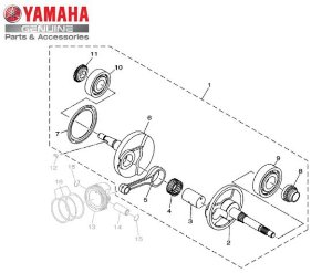 VIRABREQUIM CONJUNTO PARA NMAX 160 ORIGINAL YAMAHA
