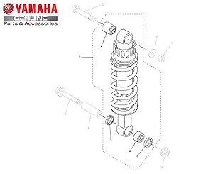 AMORTECEDOR TRASEIRO PARA FZ6 FAZER 600 MODELOS N E S ORIGINAL YAMAHA
