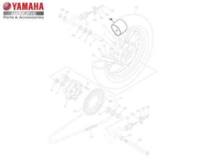 Camara de Ar Traseira (130/80-17) Yamaha XT 660 R Original