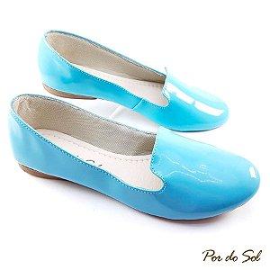 Sapatilha Slipper Azul Bebê em Verniz - C20-1387
