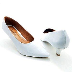 Scarpin Branco em Verniz Salto 3cm - E09-286