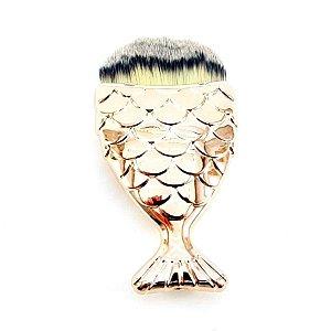 Pincel para Base - Cauda Sereia - Rosê Gold - P0160