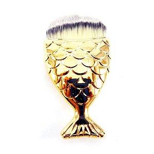 Pincel para Base - Cauda Sereia - Dourado - P0161