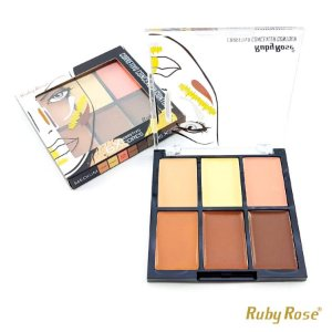 Corretivo Facial Ruby Rose com 6 Cores - Medium - P0170