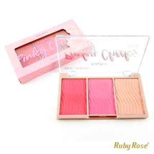 Paleta de Blush Pinky Cheeks Ruby Rose - P0172