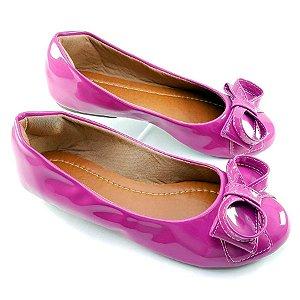 Sapatilha Pink em Verniz Laço Infinito - D14-1822