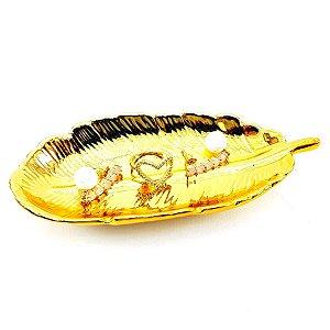 Porta Joiás em Formato Pena - Dourado - P0184