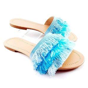 Rasteira com Franjas Degradê Azul - E23-224