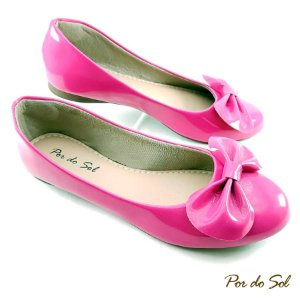 Sapatilha em Verniz Pink com Laço - A17-2263