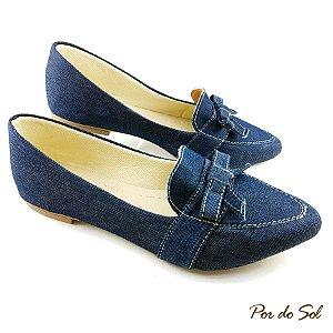 Mocassim em Tecido Jeans - D07-2289