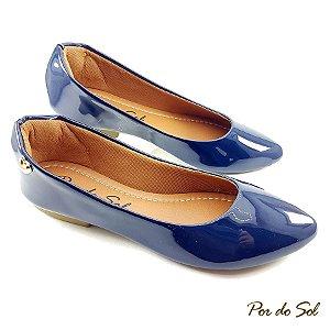 Sapatilha em Verniz Azul Marinho com ABS - E34-2381