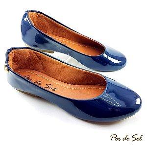 Sapatilha em Verniz Azul Marinho ABS - A09-2384