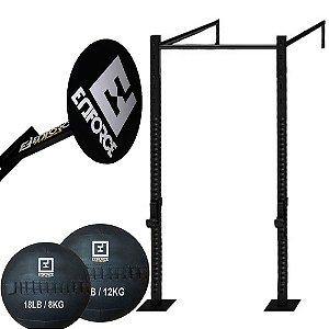 Kit Rack Standard RK002 + Alvo 40cm + Wallball de 8 Kg e 12 Kg
