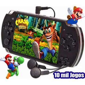 Mini Portátil Retrô - 10.000 Jogos na Memória