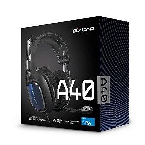HEADSET ASTRO GAMING A40 TR PARA PS5/PS4/PC/MAC PRETO/AZUL