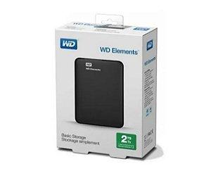 HD WD Externo Portátil Elements USB 3.0 2TB