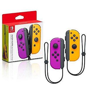 Controle Nintendo Switch Roxo e Laranja NS Joy-Con Nintendo