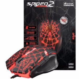 Mouse gamer fortrek spider 2 usb 3200dpi
