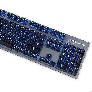 Teclado Gamer Motospeed GK89 Preto Switch Vermelho Led Azul - Preto