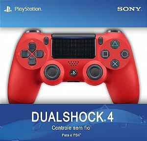 CONTROLE PS4 DUALSHOCK 4 MAGMA VERMELHO