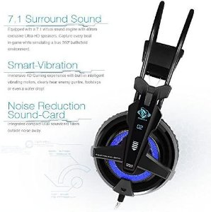 HeadSet E-Blue Auroza FPS EHS950 Gaming 7.1 3D Vibration