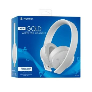 Playstation New Gold Wireless Headset BRANCO