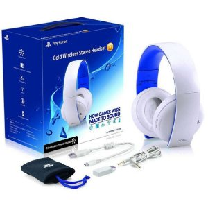 Playstation Gold Wireless Headset BRANCO