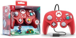CONTROLE SUPER MARIO MODELO GAME CUBE PARA NINTENDO SWITCH