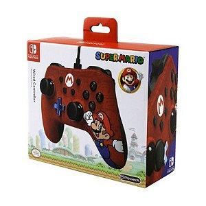 Controle Super Mario Nintendo Switch Powera Wired Controller