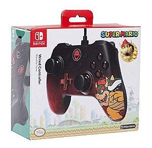 Controle Nintendo Switch Edição Especial Bowser C/fio