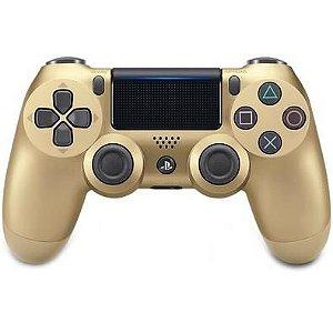 Controle Dualshock 4 Gold - Sem Fio - PS4 Dourado - Sony