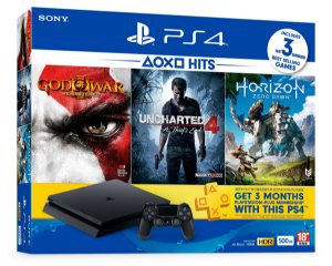 Ps4 Slim 500GB 3 Jogos E 3 Meses De Plus