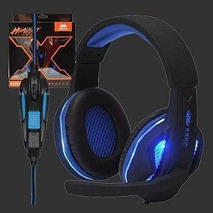 Fone de ouvido com Microfone Headset Gamer Knup Kp-396